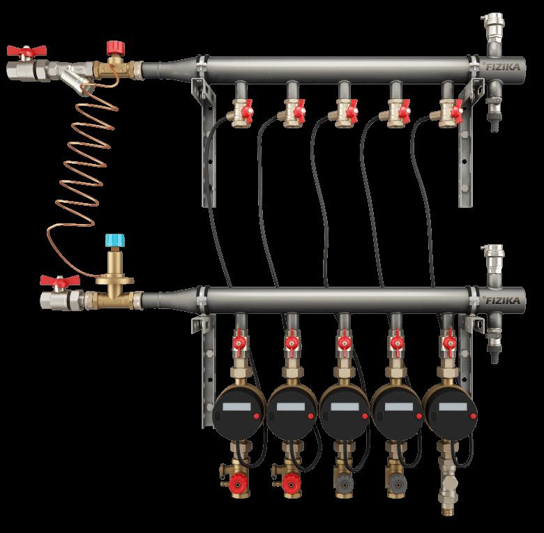 Производство коллекторов ДУ 40. Этажные и квартирные коллекторные группы для систем отопления
