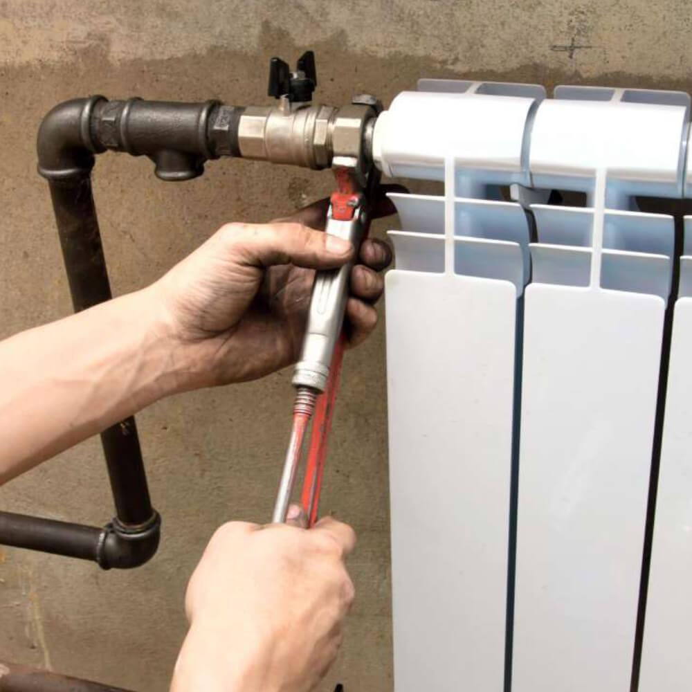 Монтаж радиаторных клапанов